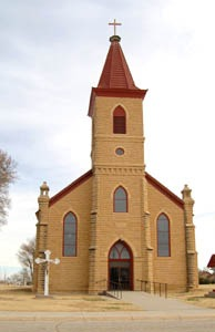 St. Anthony Church, Schoenchen, Kansas by Kathy Weiser-Alexander.
