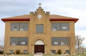 Schoenchen, Kansas Catholic School by Kathy Weiser-Alexander.