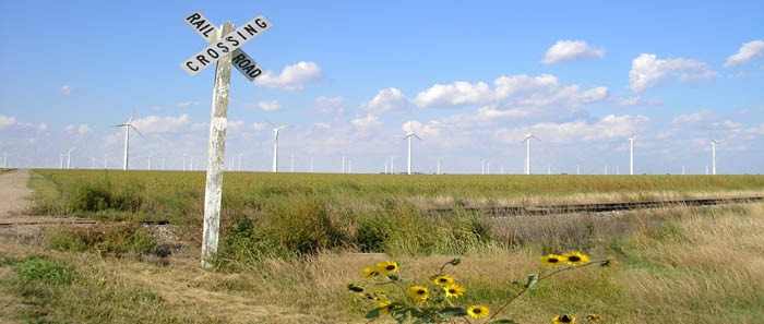Spearville, Kansas Wind Farm and Landscape by Kathy Weiser-Alexander.