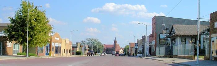 Spearville, Kansas Main Street by Kathy Weiser-Alexander.