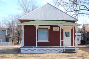 Coal Creek Library, Vinland, Kansas by Kathy Weiser-Alexander.