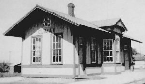 Atchison, Topeka & Santa Fe Depot in Climax, Kansas.