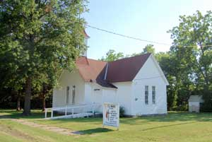 Methodist Church in Climax, Kansas by Kathy Weiser-Alexander.