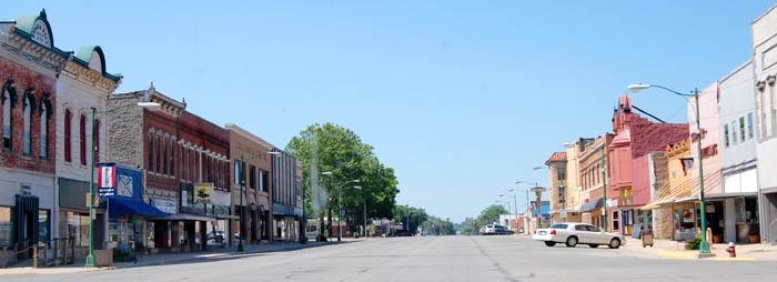 Eureka, Kansas Main Street by Kathy Weiser-Alexander.