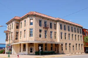 Historic Greenwood Hotel in Eureka, Kansas by Kathy Weiser-Alexander.
