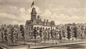 Original Greenwood County Courthouse in Eureka, Kansas.