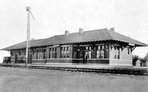 Missouri Pacific Railroad Depot in Eureka, Kansas.