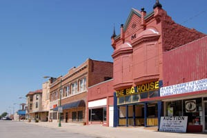Eureka, Kansas Main Street Buildings by Kathy Weiser-Alexander.