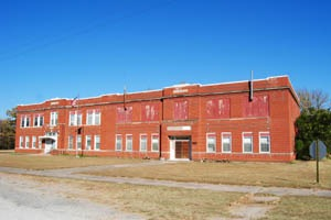 Old High School in Fall River, Kansas by Kathy Weiser-Alexander.
