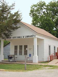 City Hall-Library in Fall River, Kansas by Kathy Weiser-Alexander.