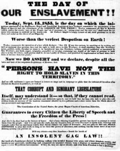 Free State Poster, 1855
