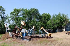 The remains of Greenwood County's oil boom still remain in various parts of the county by Kathy Weiser-Alexander.