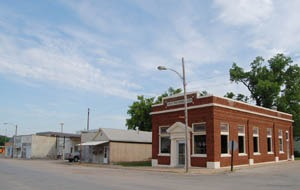 Business buildings in Hamilton, Kansas by Kathy Weiser-Alexander.