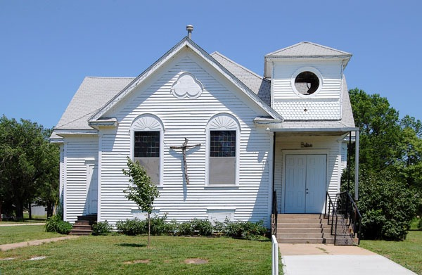 Methodist church in Neal, Kansas by Kathy Weiser-Alexander.