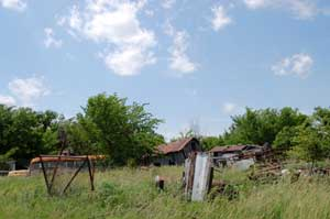 Like many other ghost towns, Reece is filled with trash and junk by Kathy Weiser-Alexander.