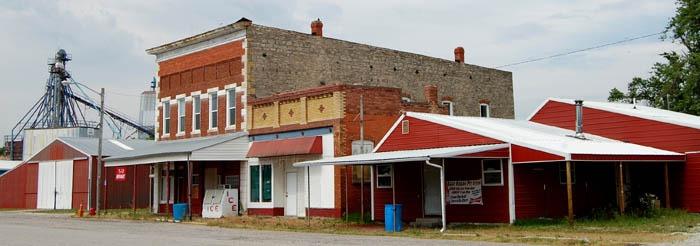 Severy, Kansas Main Street Buildings by Kathy Weiser-Alexander.