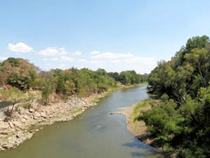 Verdigris River in Kansas.
