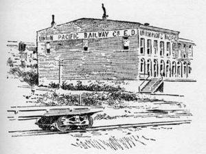 Union Pacific Railway building in Kansas City, Kansas.