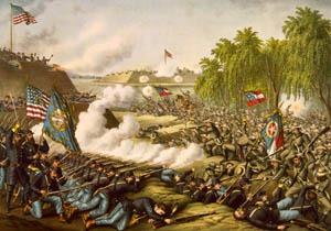 Battle of Corinth, Mississippi by Kurtz & Allison.