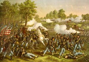 Battle of Wilsons Creek, Missouri by Kurz and Allison, 1893