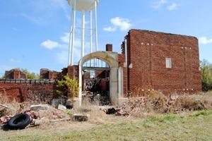 Highschool ruins in Elk City, Kansas by Kathy Weiser-Alexander.