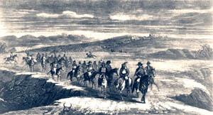 Headed to Medicine Lodge Peace Council by Frank Leslie Newspaper, 1867.