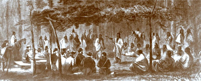 Medicine Lodge Peace Council by John Howland, 1867