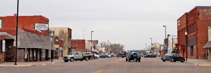 LaCrosse, Kansas Main Street by Kathy Weiser-Alexander.