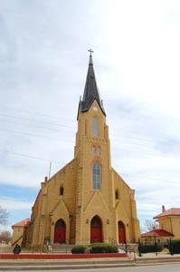 St. Josephs Church in Leibenthal, Kansas by Kathy Weiser-Alexander.