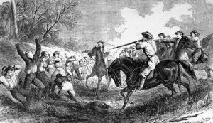 Massacre of Marais des Cygnes, Kansas.