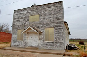 An old commercial building in Timkin, Kansas by Kathy Weiser-Alexander.