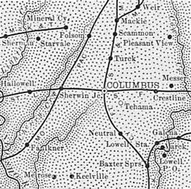 Cherokee County Map, 1899.
