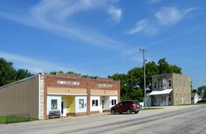 Allen, Kansas Main Street buildings today by Kathy Weiser-Alexander.