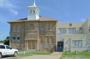 Old school in Allen, Kansas by Kathy Weiser-Alexander.