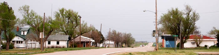 Entereing Burdett, Kansas by Kathy Weiser-Alexander.