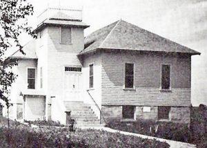 Methodist Church in Bushong, Kansas in 1923.