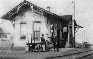 Missouri Pacific Depot in Bushong, Kansas.