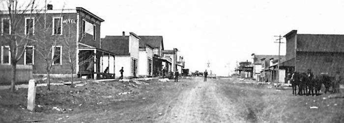 Early day Bushong, Kansas.
