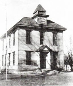 Old school in Bushong, Kansas.