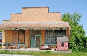 Old store building in Cadmus, Kansas by Kathy Weiser-Alexander.