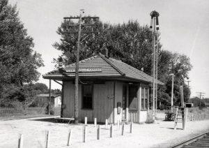 Missouri, Kansas & Texas Railway Depot in Centerville, Kansas.