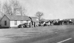 Elkader, Kansas Service Station, 1956.
