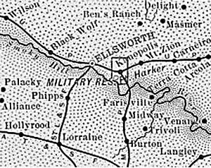 Ellsworth County, Kansas Map,1899.