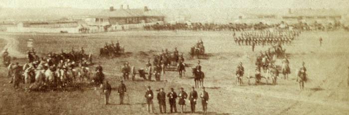 Fort Harker, Kansas by Alexander Gardner, 1867.