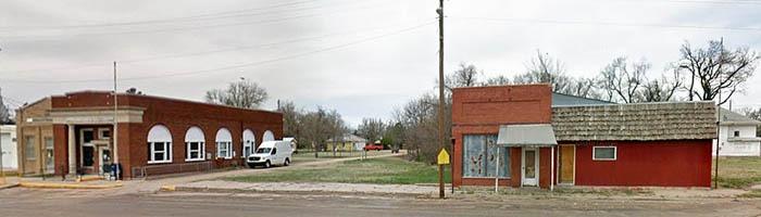 Garfield, Kansas buildings courtesy Google Maps.
