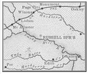 Logan County, Kansas Map, 1899.