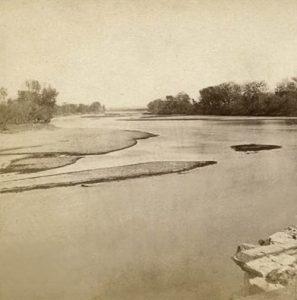 Kansas River in Riley County near Manhattan, Kansas by Alexander Gardner, 1867.
