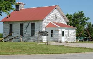 1882 Oxford No. 99 school in Mantey, Kansas by Kathy Weiser-Alexander.