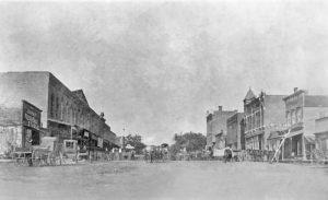 Mound City, Kansas in about 1873.
