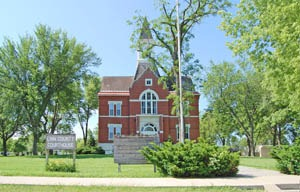 Linn County Courthouse in Mound City, Kansas by Kathy Weiser-Alexander.